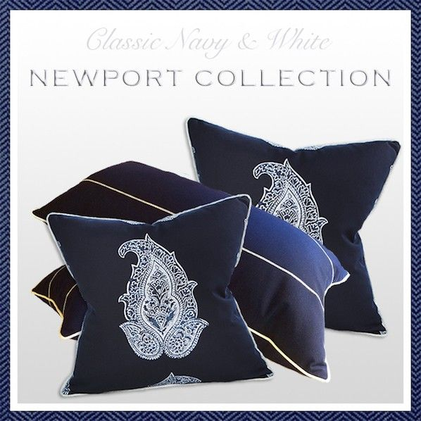 56 best images about Newport Collection on Pinterest Indigo, Coral pillows and Shops