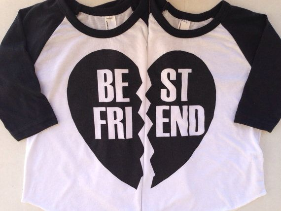 BFF Best Friends Forever Black or Red Heart Solid by IndieNook - so cute for little BFFs or siblings!