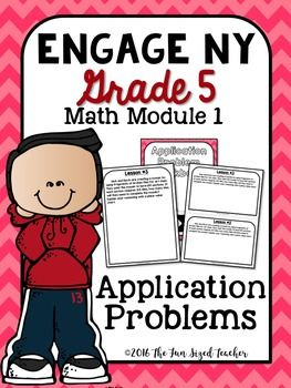 This time saving workbook covers the application problems that coordinate with Engage NY's 5th Grade Math Module 1 - Place Value and Decimal Fractions.It contains both full and half page workbook pages, as well as color and black and white cover options for both.