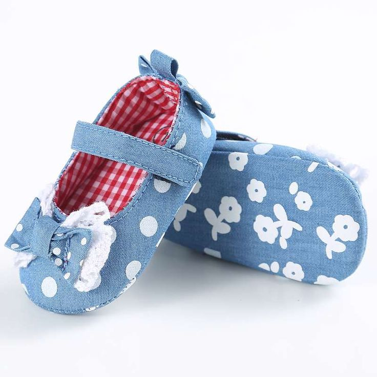 >> Click to Buy << Soft Sole Kid Girls Baby Shoes Prewalker 0-18M Infant Toddler Stripe First Walkers Bow Blue Dot Crib Shoes #Affiliate