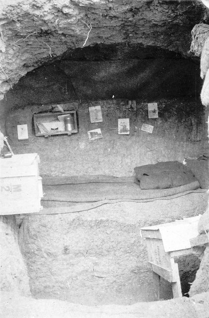 Interior of George Denniston's dug-out, Gallipoli, Turkey, 1915 | Flickr - Photo Sharing!