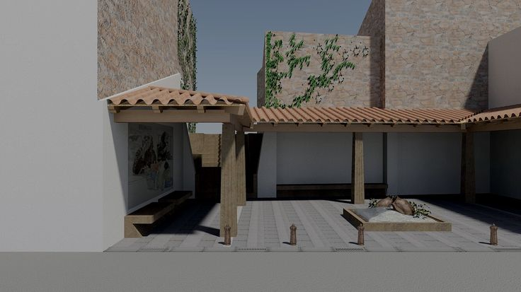 Studio in rendering per piazza