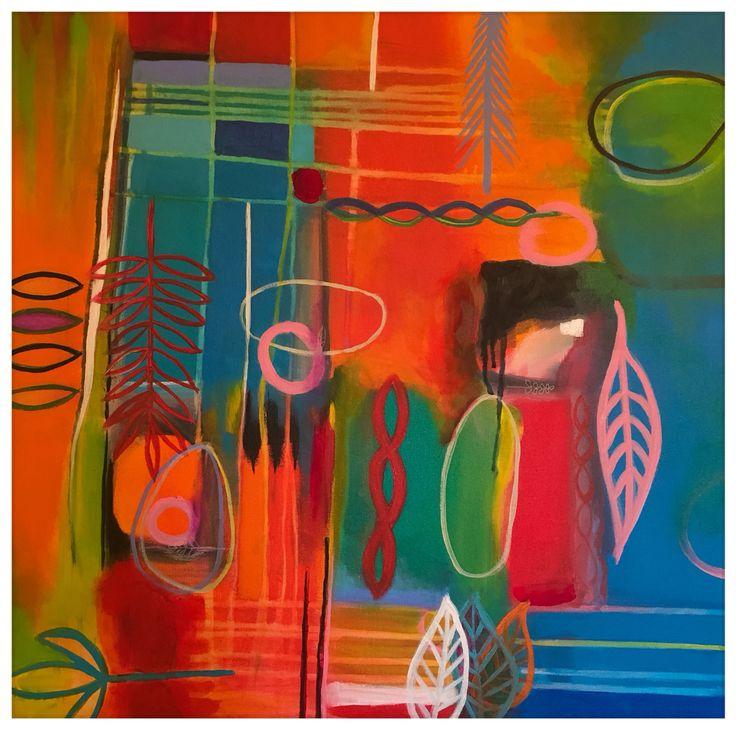 """""""Domingo por la mañana"""" acrylic on canvas. 24""""-24"""" #acrylic #abstract  #art"""