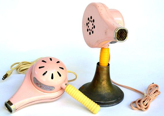 Vintage Pink Hair Dryer Set: Matching WORKING by MerlesVintage