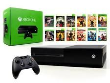 Microsoft xbox one console 500gb Noir + contrôleur + jeu console de jeu usk18