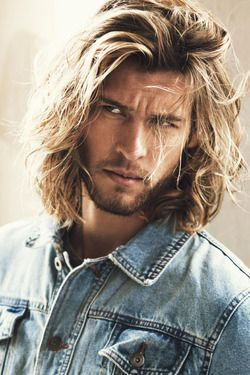Mens long hair