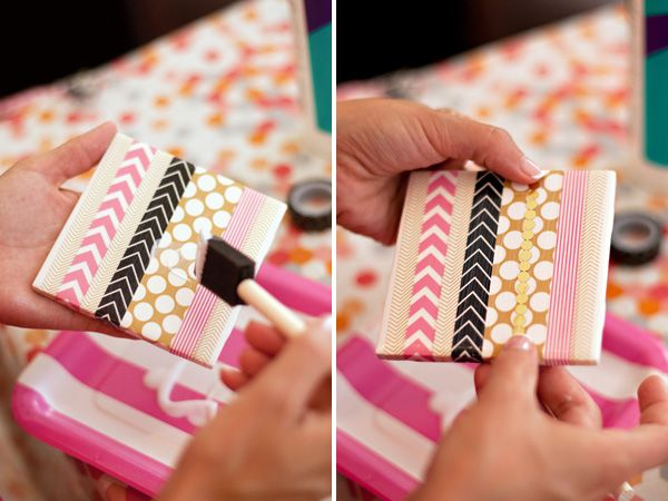 Washi tape coaster diy
