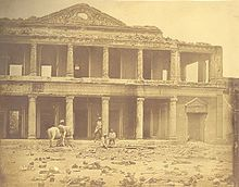 Imagem de Lucknow durante a Revolta dos Cipaios. Fotografia de Felice Beato.