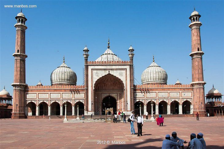 Foto de Nueva Delhi, Chandni Chowk, India - Jama Masjid, Mezquita del viernes