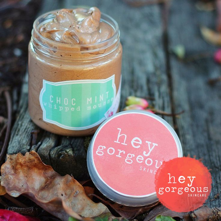 Hey Gorgeous Skincare | Choc Mint Whipped Mousse or Body Butter - Makes my skin smell like dessert and gives the most subtle natural glow