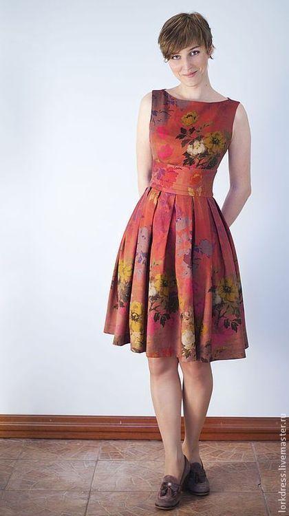 """Платья ручной работы. Ярмарка Мастеров - ручная работа Платье """"Autumn garden"""" из шерсти. Handmade."""