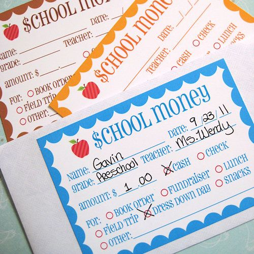 kids need organization and routines, even at home!!: Money Printable, Labels Free, Money Labels, Kids Stuff, Schools Mornings, Free Prints, Schools Note, Free Printable, Schools Money