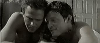 Brothers... --- Best part of the gag reel!! Norman laughed so hard even though Sean slapped his forehead pretty hard lol... Sean was like oh shit... and then Norman punched him a few times lol
