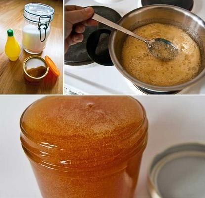 ~Homemade Body Sugar for Hair Removal!~ Ingredients 2 cups sugar ?cup water ?cup lemon juice Method 1. Pour the sugar, water and lemon juice in a saucepan, and heat it over a low flame. 2. Keep stirring the mixture until all the sugar has melted, and you have a thick brown liquid. 3. Let it cool slightly. How do you know it is done? If you can still see sugar particles in the wax, the hair will probably not come out and you would need to re-cook the wax. Take a glass of water and put a drop…
