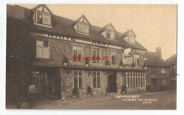 Oxon Henley on Thames White Hart Hotel Nettlebed Real Photo Vintage Postcard | eBay