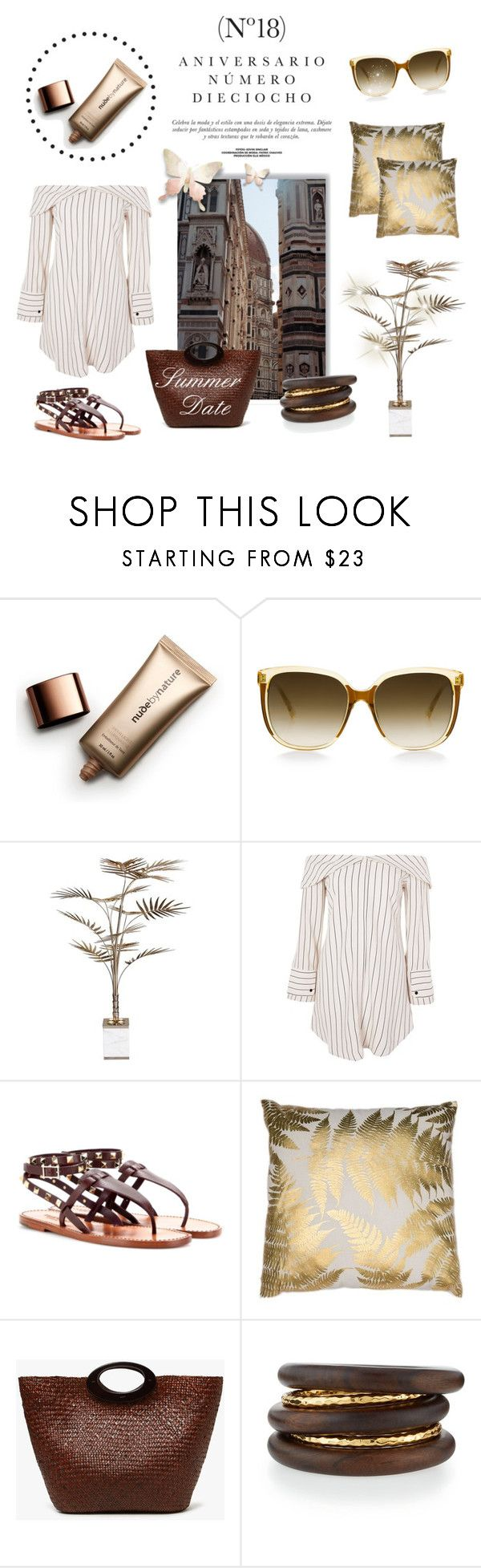 """""""Getaway"""" by laurenleigh-bee on Polyvore featuring Sinclair, Nude by Nature, Steven Alan, Bella Loco, Topshop and NEST Jewelry"""