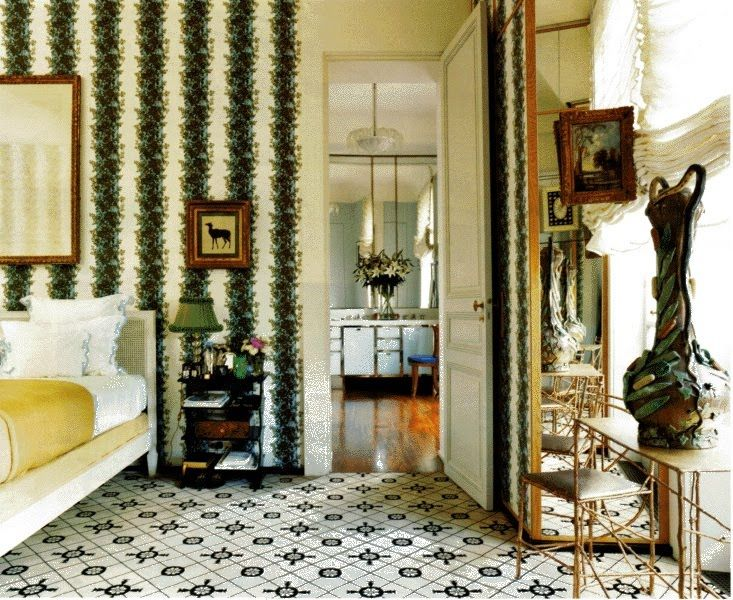Jacques Granges Designed Room In Paris Using Madeleine Castaing Wall