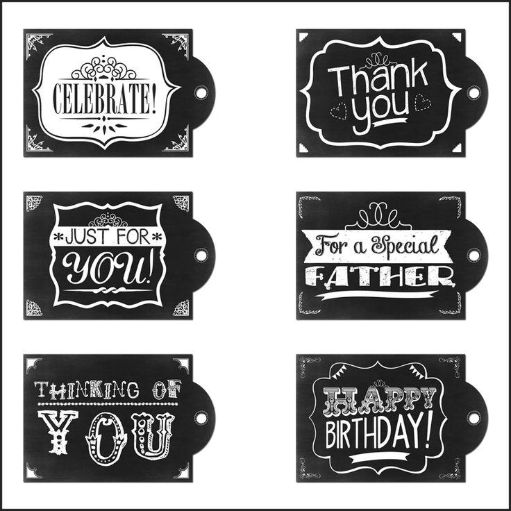 jolies étiquettes à imprimer ! Chalkboard Printable Tags