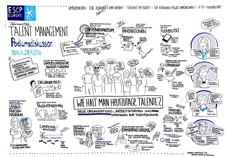 2. Talent Management Thementag am 28.04.2016 am Berliner Campus - Fotos und Infos zur Veranstaltung: http://escpeuro.pe/29ki94S    Graphic Recording: Yasmine Cordes @YacCordes (Twitter) - @TheVisualEdition (Instagram)