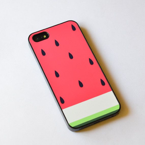 Watermelons are the best :) http://www.etsy.com/listing/120994152/iphone-5-case-watermelon-iphone-4s-case