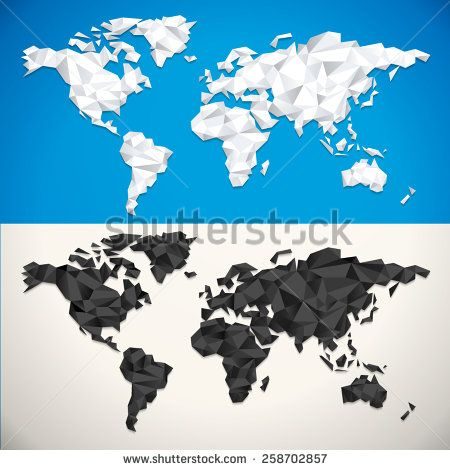 Vector Low Poly World Map