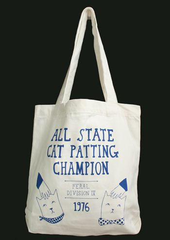 Able And Game Wholesale - TOTE BAGS - Tote Bag - All State Cat Patting Champion