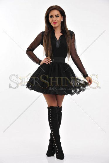 Fusta PrettyGirl Edgy Style Black