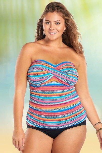 Triangle Stripe Plus Size Tankini – Anne Cole