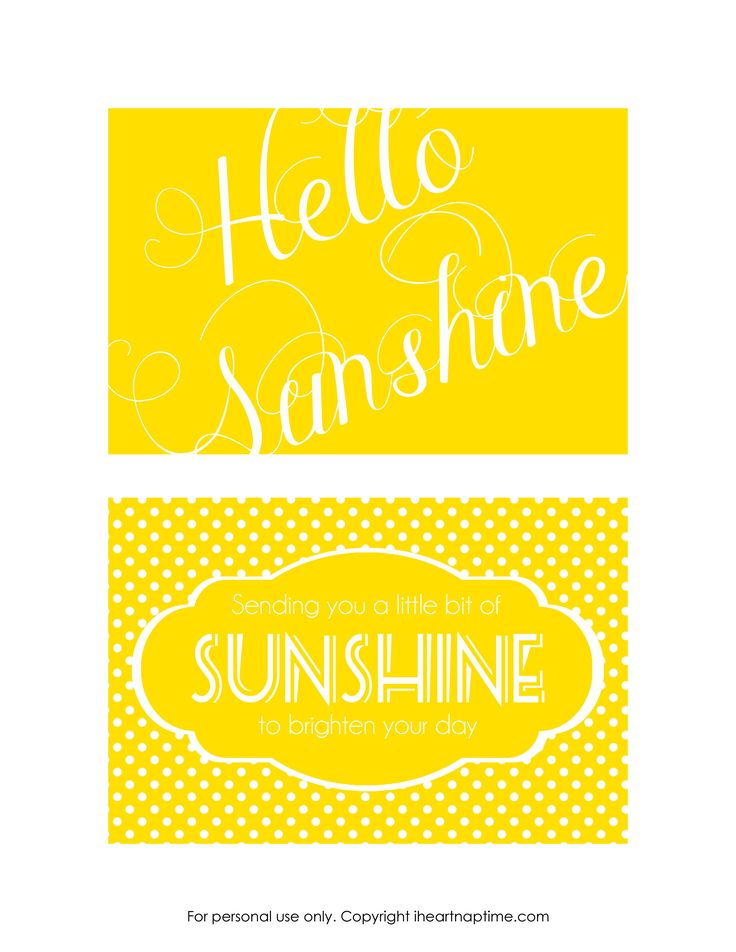 Send a box of sunshine {FREE printables}
