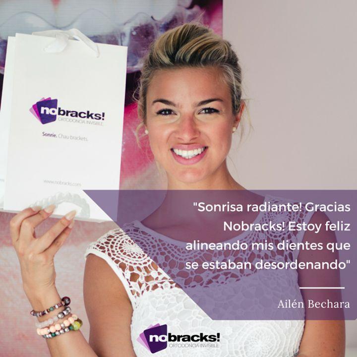 Esa sonrisa #nobracks está cada día más linda!!! Gracias Ailén Bechara - Página Oficial #OrtodonciaInvisible #smile #sonríe