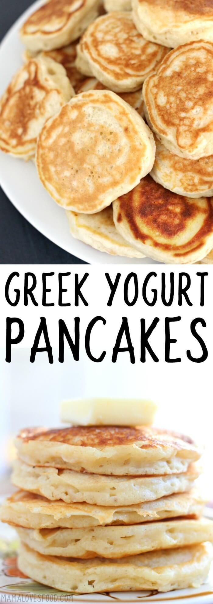 will def make again! GREEK YOGURT PANCAKES #pancakes #greekyogurt #breakfast #breakfastrecipes