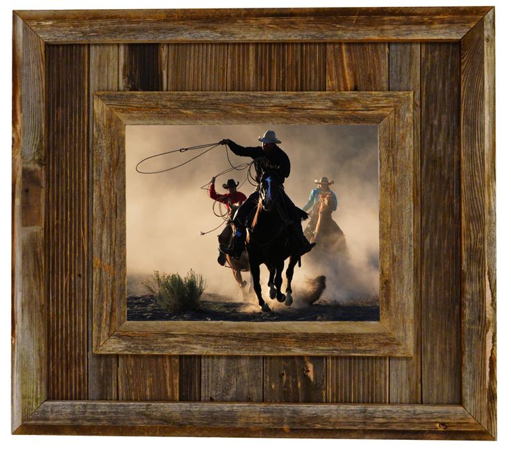 Durango Rustic Barnwood Picture Frame, 8x10 Opening Western Aged Wood Frame