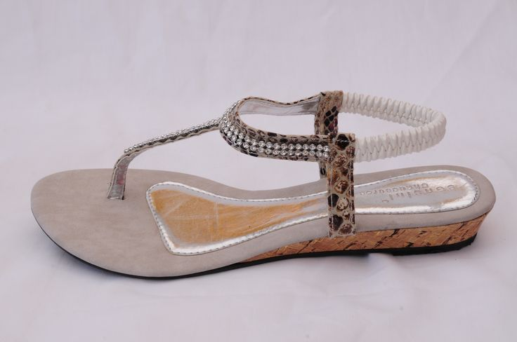 Diamante and Snakeskin... what a combo! Stand out this Summer with these daring thongs!