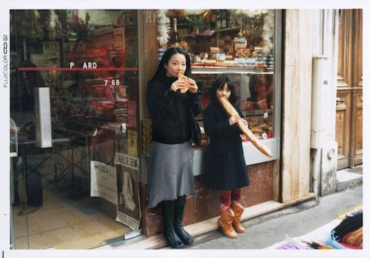 Chino Otsuka attempts to explore the fluid relationship between the memory and time through photography. Her series Imagine Finding Me consists of double self-portraits; revisiting places from her past she imposes current pictures of herself into photographs snapped of her as a child.