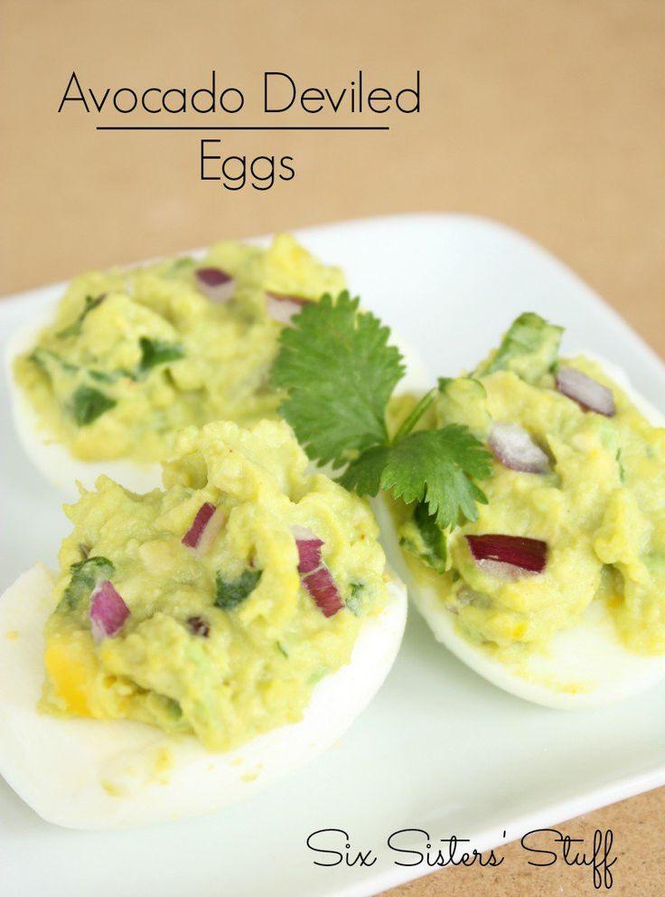 avocado deviled eggs easy deviled eggs avocado deviled eggs deviled ...