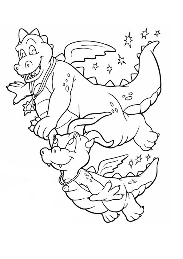 Dragon Tales With Baby Dragon Tales Coloringpages Dragon Coloring Page Cartoon Coloring Pages Horse Coloring Pages