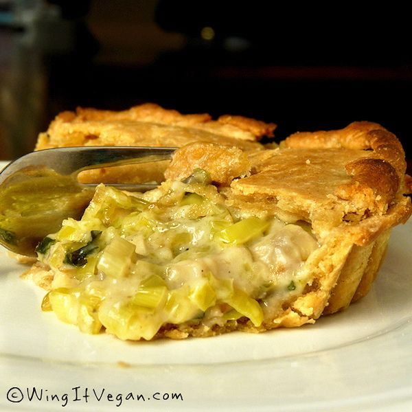 Vegan Leek and Mushroom Pie