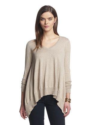 84% OFF Acrobat Women's Cashmere Blend V-Neck Sweater (Beige)