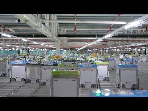 19 A 360 Tour Of Ocado S Andover Cfc3 Automated Warehouse Youtube Andover Warehouse Automation