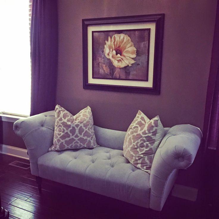 settee // tufted // velvet // master bedroom // decor ...