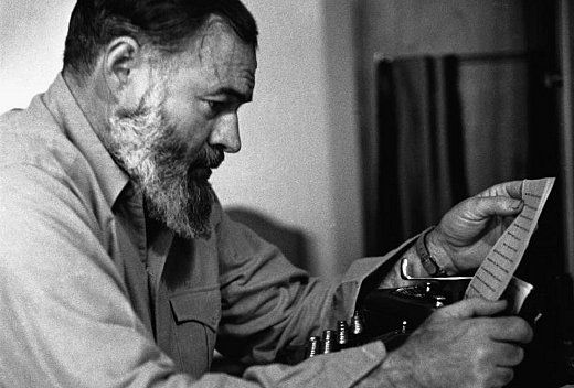 writings of ernest hemingway Lots of adjectives and other descriptors have been flung around to describe eh's writing style: stark, simple, direct, unadorned, straightforward, rough-hewn.
