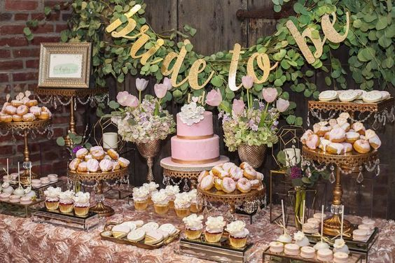 The Essential Guide To Hosting A Bridal Shower The Fashion To Follow Bridal Shower Rustic Bridal Shower Desserts Table Bridal Shower Desserts