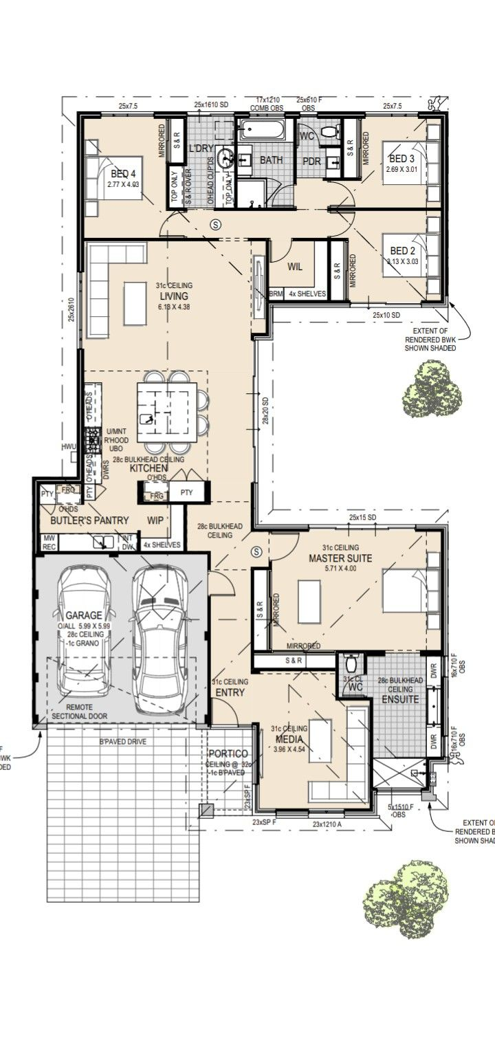 4 Bedroom U Style House Unsure Of Original Builder My House Plans House Plans Australia U Shaped House Plans