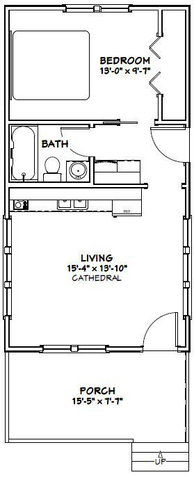 16x30 Tiny House 16x30h5 480 Sq Ft Excellent