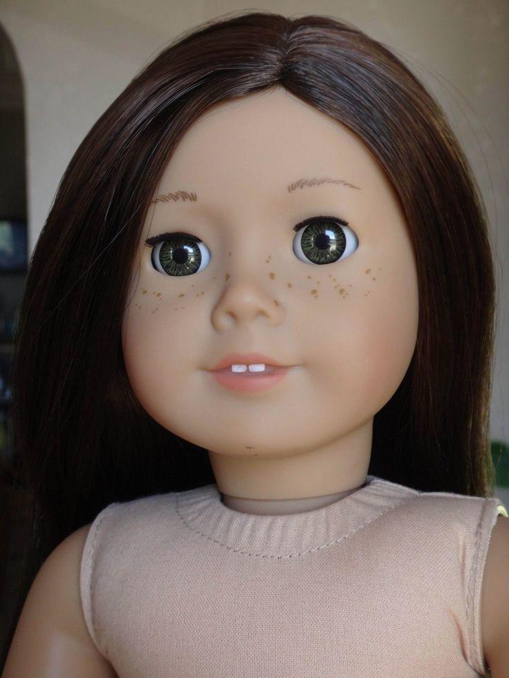 """AMERICAN GIRL """"Truly Me"""" #55 DOLL (Brown Hair, Hazel Eyes, Freckles)"""