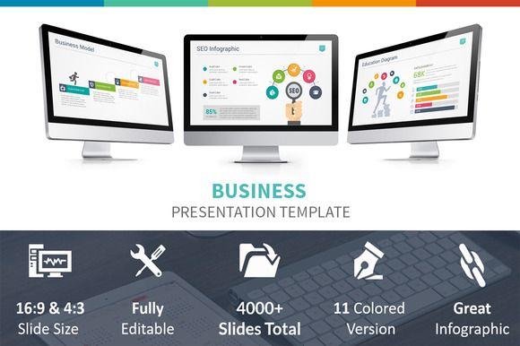Business Presentation Template by GraStudios on Creative Market