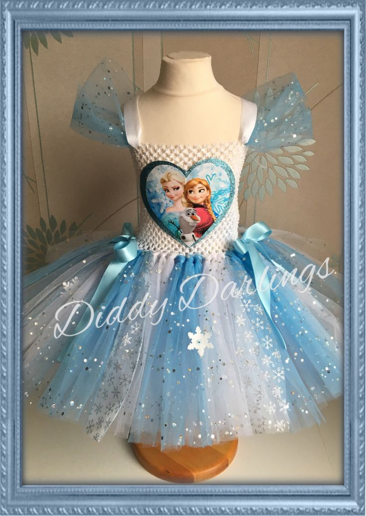 A personal favourite from my Etsy shop https://www.etsy.com/uk/listing/259990905/sparkly-elsa-and-anna-tutu-dress-sparkly