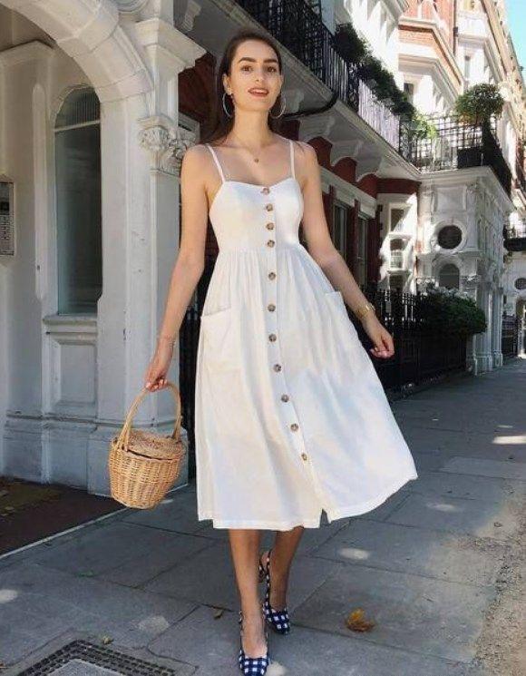 21 En iyi beyaz yazlık elbiseler 2019 – Trendler ve Moda   #PFW #2019 #spring #…