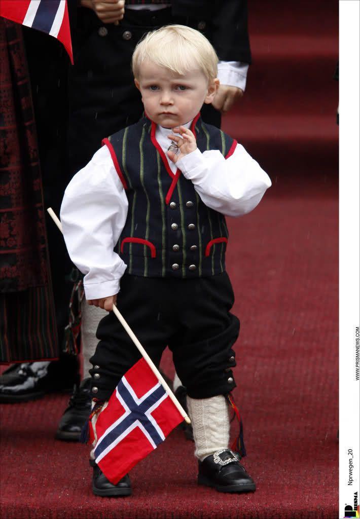 Prince Sverre Magnus during the Norwegian National Day in Skaugum, Norway, May 17, 2008.