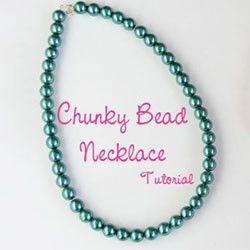 Chunky Bead Necklace Tutorial